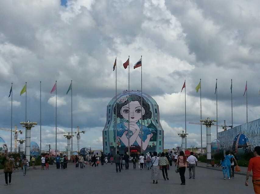 2014年8月14日游满洲里套娃广场
